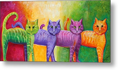 The Cat Walk Metal Print