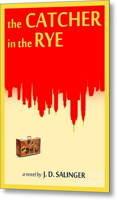 The Catcher In The Rye Book Cover Movie Poster Art 1 Metal Print