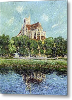The Cathedral At Auxerre Metal Print by Gustave Loiseau