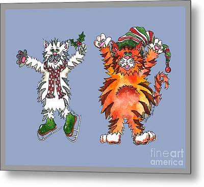 The Cats Of Winter Metal Print