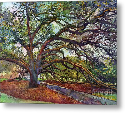 Metal Print featuring the painting The Century Oak by Hailey E Herrera