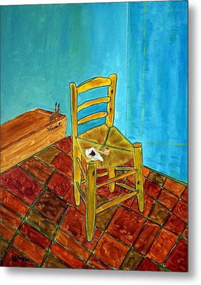The Chair Metal Print by Joseph Frank Baraba