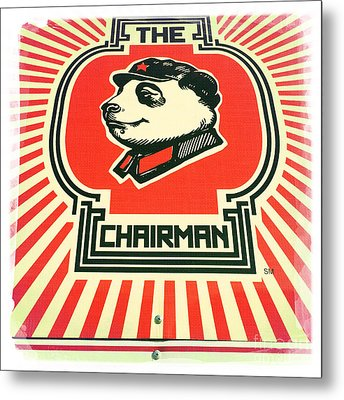 The Chairman Metal Print by Nina Prommer
