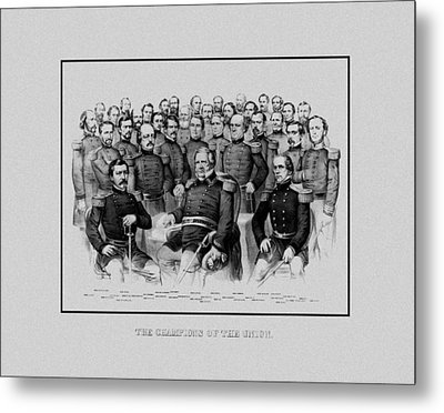 The Champions Of The Union -- Civil War Metal Print