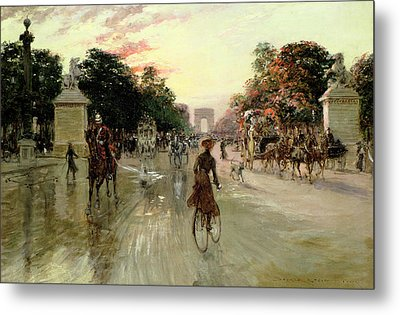 The Champs Elysees - Paris Metal Print
