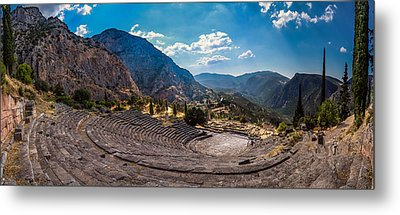Metal Print featuring the photograph The Cheap Seats At Delphi by Micah Goff