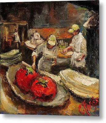 The Chefs Table At Hot And Hot Metal Print by Carole Foret