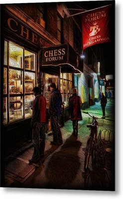 The Chess Forum Metal Print by Lee Dos Santos