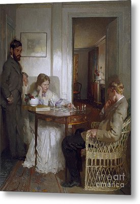 The Chess Players Metal Print by Sir William Orpen