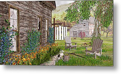 The Chicken Coop Metal Print by Peter J Sucy