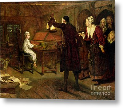 The Child Handel Discovered By His Parents Metal Print