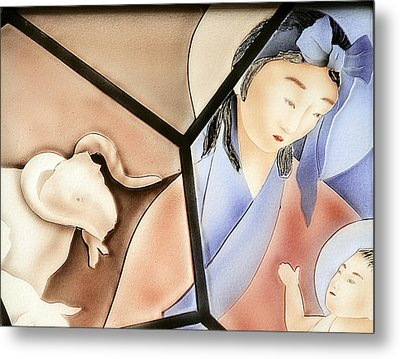 The Chinese Jesus Metal Print by Christine Till