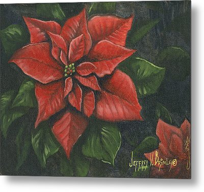 The Christmas Flower Metal Print by Jeff Brimley
