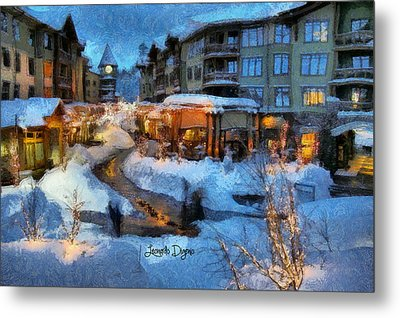 The Christmas Night - Da Metal Print