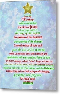 The Christmas Prayer Metal Print