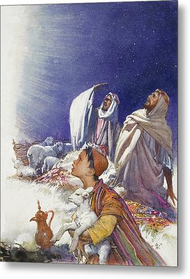 The Christmas Story The Shepherds' Tale Metal Print by John Millar Watt