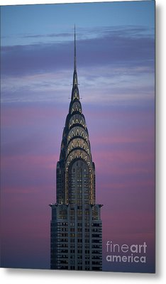 The Chrysler Building At Dusk Metal Print by Diane Diederich