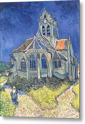 The Church At Auvers Sur Oise Metal Print