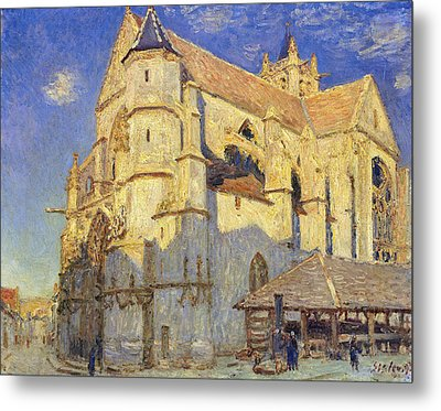 The Church At Moret Metal Print by Alfred Sisley