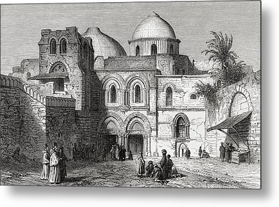 The Church Of The Holy Sepulchre In The Metal Print