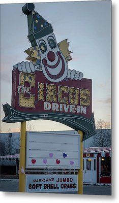 Metal Print featuring the photograph The Circus Drive In Sign Wall Township Nj by Terry DeLuco