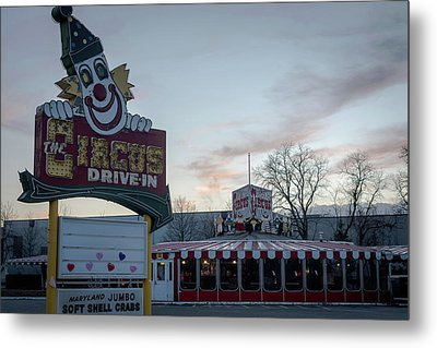 Metal Print featuring the photograph The Circus Drive In Wall Township Nj by Terry DeLuco