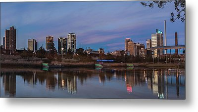 The City At Sunset Metal Print by Phillip Burrow