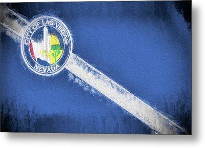 Metal Print featuring the digital art The City Flag Of Las Vegas by JC Findley