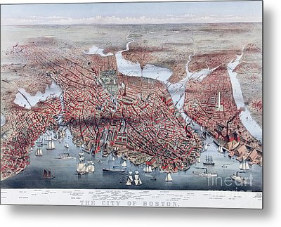 The City Of Boston Metal Print