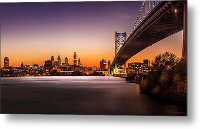 The City Of Philadelphia Metal Print by Marvin Spates