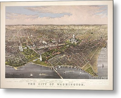 The City Of Washington Metal Print by Charles Richard Parsons
