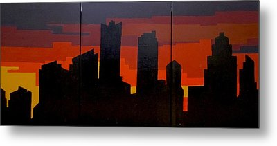 The City Sleeps Metal Print by Ashley Price