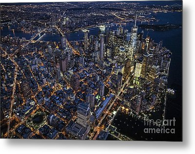 The City That Never Sleeps Metal Print by Roman Kurywczak