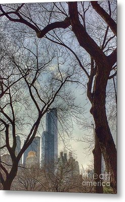 The City Through The Trees Metal Print