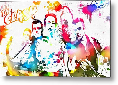 The Clash Paint Splatter Metal Print