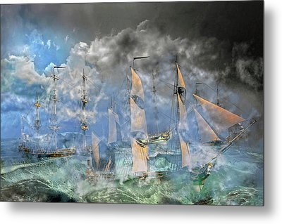 The Cleggan Bay Storm 1927 Metal Print