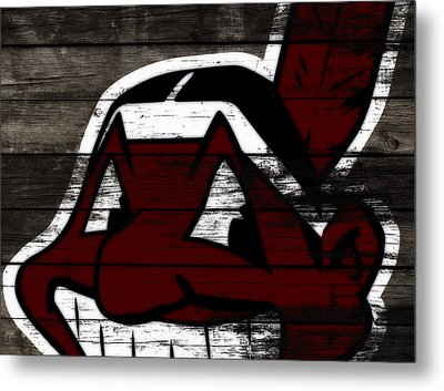 The Cleveland Indians 3h    Metal Print by Brian Reaves