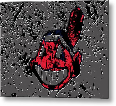 The Cleveland Indians1a Metal Print by Brian Reaves