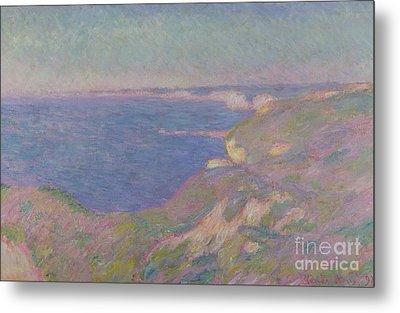 The Cliffs Near Dieppe Metal Print by Claude Monet