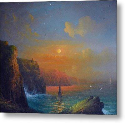 Ireland The Cliffs Of Moher  Metal Print by Joe Gilronan