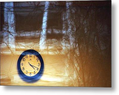 The Clock Of My Dreams Running Backwards Metal Print by Marcus Hammerschmitt