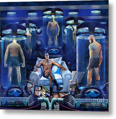 The Cloning The X Factor The Resurrection Of Malik El Shabazz Metal Print by Reggie Duffie
