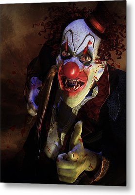 The Clown Metal Print by Mary Hood