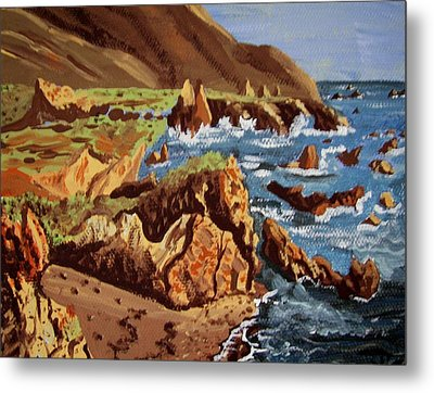 The Coast Metal Print by Judy Via-Wolff