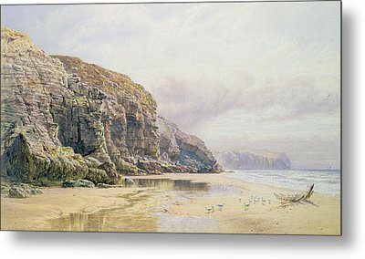 The Coast Of Cornwall  Metal Print