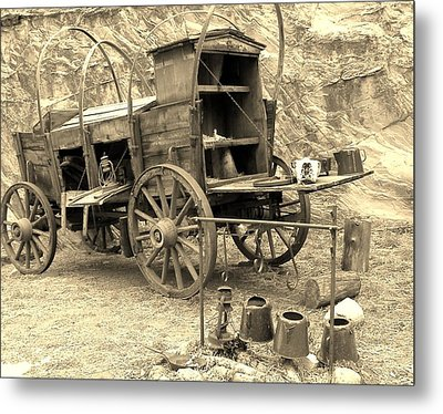 The Coffee's Gittin Cold Metal Print by Donna Parlow