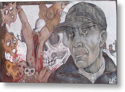 The Cold World Of Ed Gein Metal Print by Sam Hane