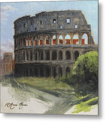The Coliseum Rome Metal Print by Anna Rose Bain