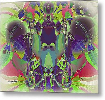 The Color Mask Metal Print by Moustafa Al Hatter