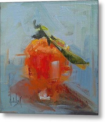 The Color Orange Metal Print by Barbara Andolsek